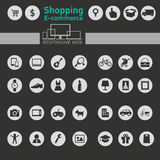 Web icons for e-commerce, shopping Stock Photography