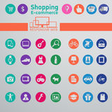 Web icons for e-commerce, shopping Stock Image