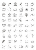 Web icons finance, business. Black and white Royalty Free Stock Photo