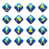 Web icons - fitness Stock Photo