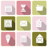 Web icons in Flat Design for Web and Mobile Royalty Free Stock Image