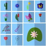 Web icons flowering. Vector icon water lily, Stock Image
