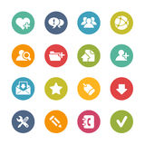 Web Icons -- Fresh Colors Series Royalty Free Stock Photos