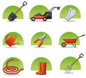 Web icons garden tools Royalty Free Stock Photos