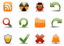 Web icons | Glossy part 4 Royalty Free Stock Photo