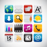 Web icons - glossy series Stock Photography