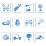 Web icons : Golf I. A set of web icons with light reflections stock illustration