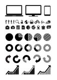 Web icons, graphics and icons PC Royalty Free Stock Photos