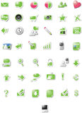 Web icons - green edition Royalty Free Stock Images