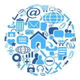 Web icons group in circle shape Royalty Free Stock Image