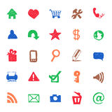 Web icons hand drawn Royalty Free Stock Photos