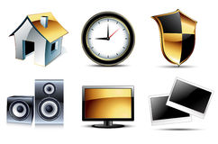 Web icons high detailed set Stock Image