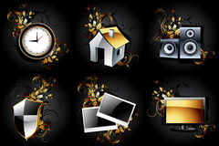 Web icons high detailed set Royalty Free Stock Photo