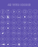 49 Web icons Stock Photos