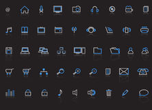 Web icons,  illustration. Web icons, internet,  illustration Stock Photos