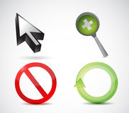 Web icons illustration design. Over a white background Stock Photography