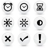9 web icons  illustration. 9  illustrator web icons, available in jpeg and eps formats Stock Photos