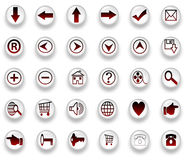 Web Icons isolated on white Stock Images