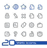 Web Icons // Line Series Royalty Free Stock Photos