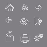 Web icons linear Stock Photography