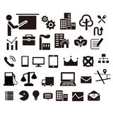 Flat icons for web design Stock Images