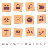 Web icons on memo notes 3 vector illustration