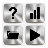 Web icons on metallic buttons set vol 9 Royalty Free Stock Image