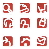 Web icons. Minimalist. Royalty Free Stock Photo