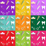 Web icons modern design for mobile shadow icon set medical Royalty Free Stock Photos