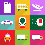 Web icons modern design for mobile shadow icon set transport Stock Image