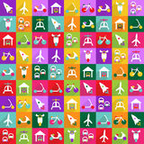 Web icons modern design for mobile shadow icon set transport Royalty Free Stock Image