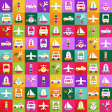 Web icons modern design for mobile shadow icon set transport Royalty Free Stock Photo
