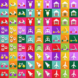 Web icons modern design for mobile shadow icon set transport Royalty Free Stock Images