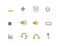 Web Icons Multimedia & Audio. Isolated Audio & Multimedia web icons/buttons set Royalty Free Stock Photo