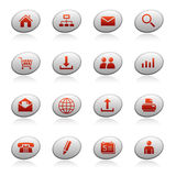 Web Icons On Ellipse Buttons