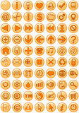 Web Icons in orange. Illustrations of Web icons in orange stock illustration