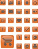 Web Icons orange Royalty Free Stock Image