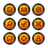 Web icons, orange series Royalty Free Stock Images
