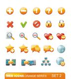 Web Icons – Orange series. Set 2 Stock Photos