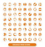 Web icons. orange and white Stock Images