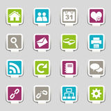 Web icons Part 1. Web icons isolated on grey Stock Image