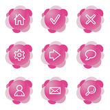 Web icons, pink series. Vector web icons, pink flower series, V2 Royalty Free Stock Images