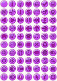 Web Icons in purple vector illustration