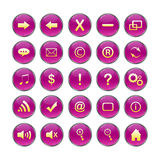 Web Icons,purple, DropShadows Stock Photography