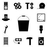 Web icons refit/ Vector icon bucket, pail, Royalty Free Stock Photos
