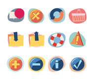 Web Icons Retro Revival Collection - Set 8. Professional Web icons collection for websites, applications or presentations Royalty Free Stock Images