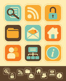 Web Icons in Retro-Style Royalty Free Stock Image