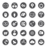Web icons, round buttons Royalty Free Stock Photos