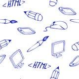 Web icons seamless. Vector set royalty free illustration
