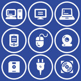 Web icons set – Hardware (Vector) stock illustration